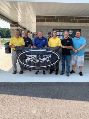 A gathering was held Wednesday at Armstrong Park to recognize R&R Aluminum Trailers for its $40,000 donation. The event drew Doug Humbert, Kim Losik, Jason Leach, Rick Daniels, Brad Brewer, Jared Hoffmaster, Bob Brewer and Ross Daniels.