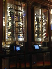 The wine selection at Gordon Ramsay Pub & Grill.