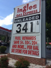 Ingles, like most companies in the gas business, prices its gasoline differently in different areas.