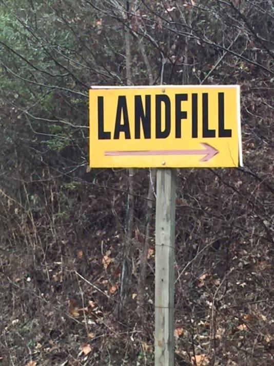 landfill sign