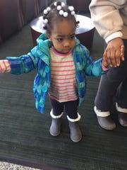 Arianna's big sister, Jasiah, 2
