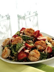Strawberry shrimp salad is refreshing option at Firebirds Wood-Fired Grill.