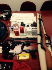 Firearms recovered by Boone County police during Michael Lepper's traffic stop.