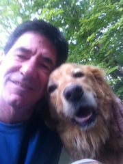 Paul Daugherty with Lucy.
