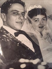 Ted and Barbara Specchio on their wedding day, Oct.