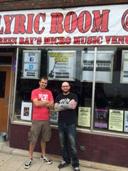 Lyric Room owner Will Liebergen, left, and music promoter Tom Johnson