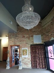 Chandelier in the lobby of the former Historic West