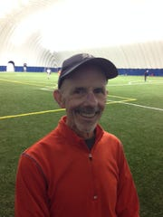 Canton's Bob Mosher loves having a chance to play indoor softball under the dome at High Velocity — at least until the weather warms up.