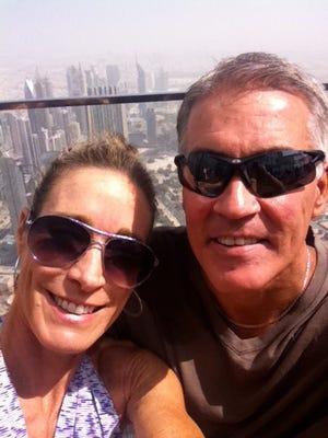 Linda and Jeff McMenamin in Dubai.