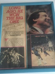 Reporter Gary Craig, a North Carolina basketball fan, still treasures his Sports Illustrated autographed by Dean Smith.