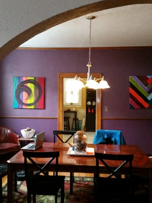 Nicole Seeman allows visitors to stay with her in her Sioux Falls house through the rental service Airbnb.