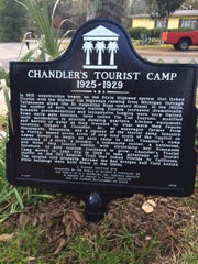A Florida historical marker to Chandler's Tourist Camp