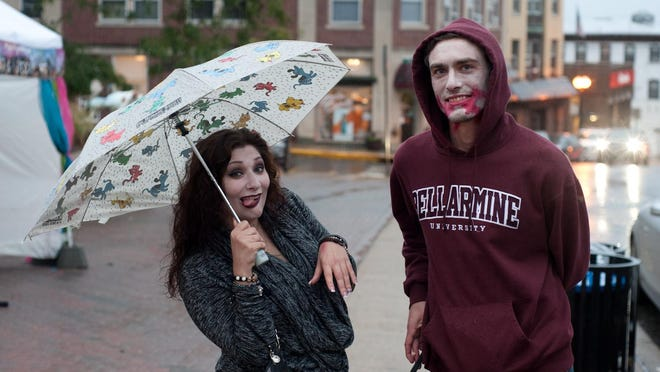 Denise Terminello and John Manzella joined the other undead at Boonton's Zombie Walk on Friday, Oct. 2, 2015