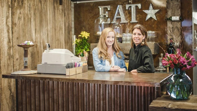 Erin Bleau, left, is general manager and events coordinator and Melissa O'Hair is owner and chef at the Feedlot 49 at the Pop Stand.
