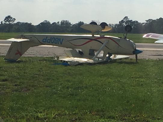 Several planes were flipped by strong wind gusts during