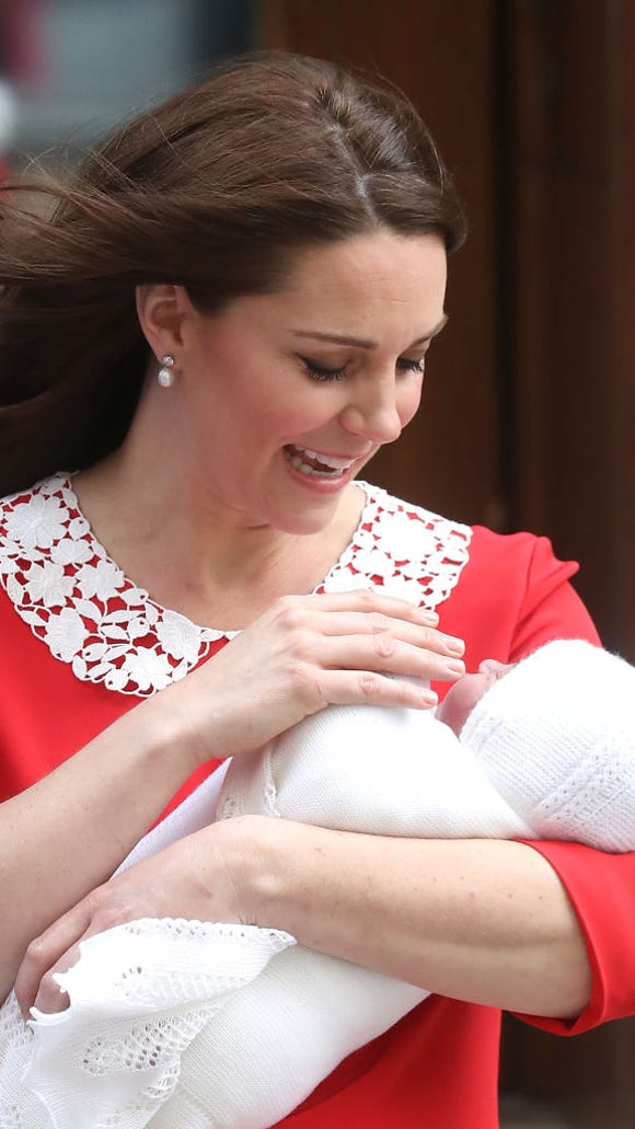 Kate Middleton with son