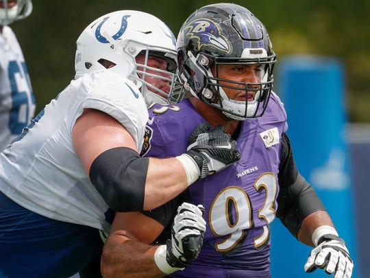 Indianapolis Colts offensive guard Quenton Nelson (56)