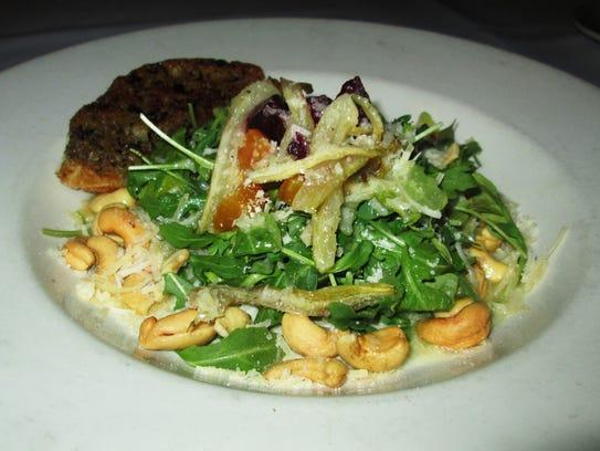 Salad from Lake Street Café in Elkhart Lake.