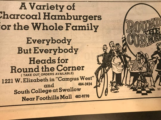 An advertisement for Round The Corner.