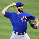 Jake Arrieta leads the majors with 16 wins and ranks second in the NL with a 2.22 ERA.