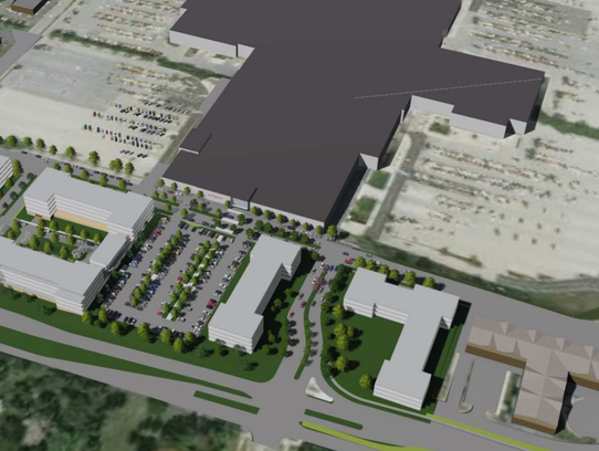 Four new buildings are envisioned along Grange Avenue