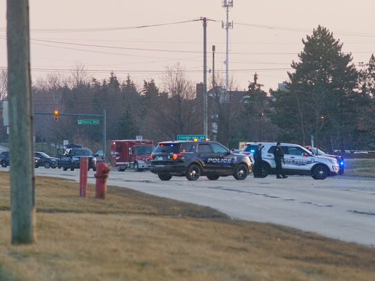 Canton police blocked off roads as the attempted bank