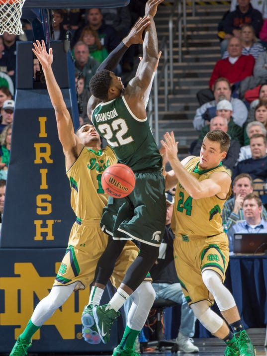 NCAA Basketball: Michigan State at Notre Dame