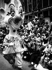 Many of the giant heads in the parade came from a small studio in Viareggio, Italy, handmade by Alfredo Morescalchi and his staff.