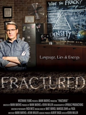 "Mark Mathis appears in a poster promoting a movie he is making titled ""Fractured."""