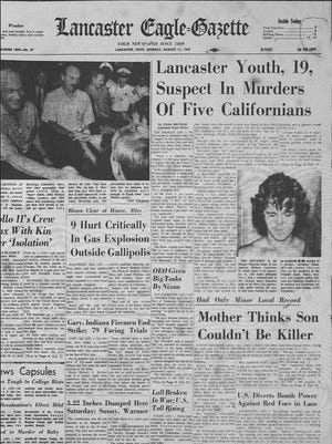 This was the front page of the Eagle-Gazette on Aug. 11, 1969.