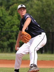Plymouth senior pitcher Kevin Anthony gave up just