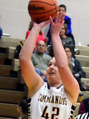 Hendersonville High senior forward Elizabeth Burns