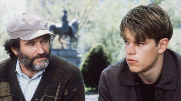 Robin Williams, left, and Matt Damon starring in 'Good