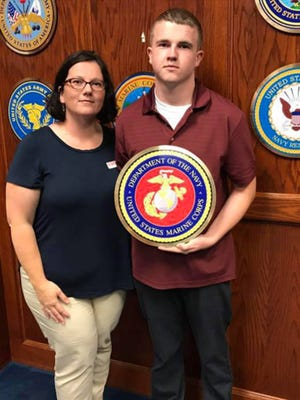 Tyler Jarrell, 18, died at the Ohio State Fair Wednesday. His mother, Amber Duffield, celebrated his enlistment in the U.S. Marine Corps less than one week earlier.