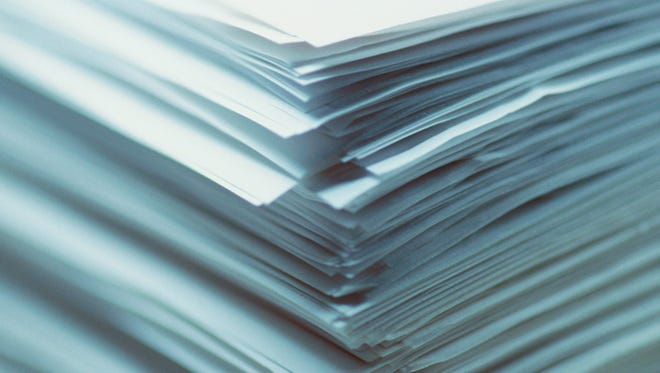 Close-up of a stack of paper