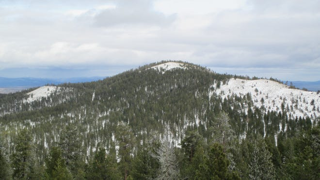 Pine Mountain, as seen from Pine Mountain Observatory. It's one of the last major peaks before Central Oregon flattens into the desert landscape of the East.