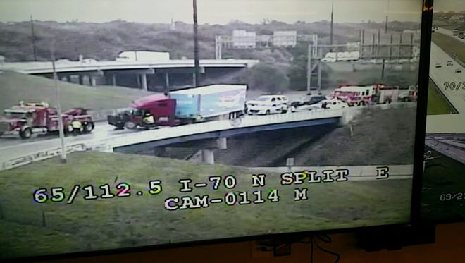 Two semi crashes snarl traffic on Indianapolis interstates