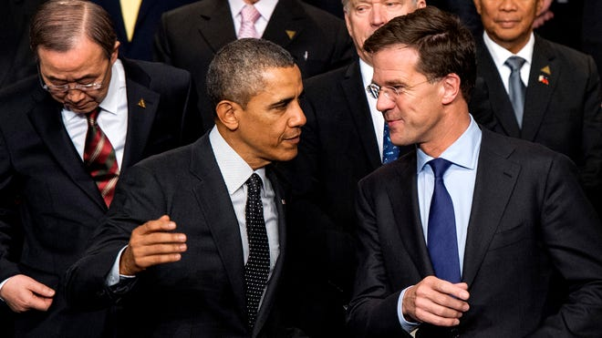 President Obama and Dutch Prime Minister Mark Rutte at the Nuclear Security Summit on March 25.