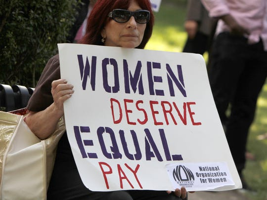 Women earn on average 20 percent less than their male counterparts, according to the National Committee on Pay Equity.