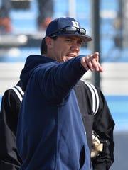 Wolf Pack baseball head coach T.J. Bruce.