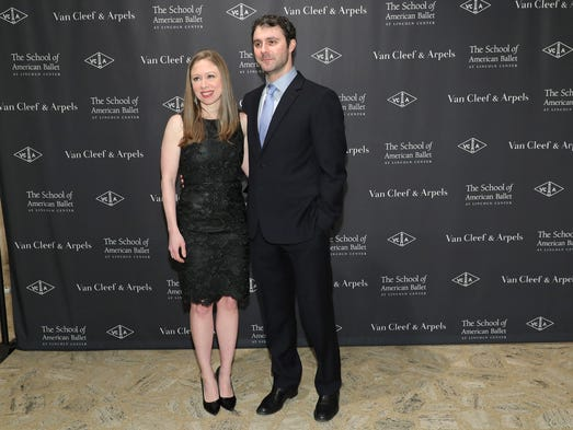 Chelsea Clinton and Marc Mezvinsky attend the School