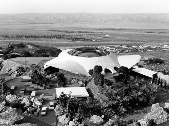 Aerial view of the Bob Hope House designed by John