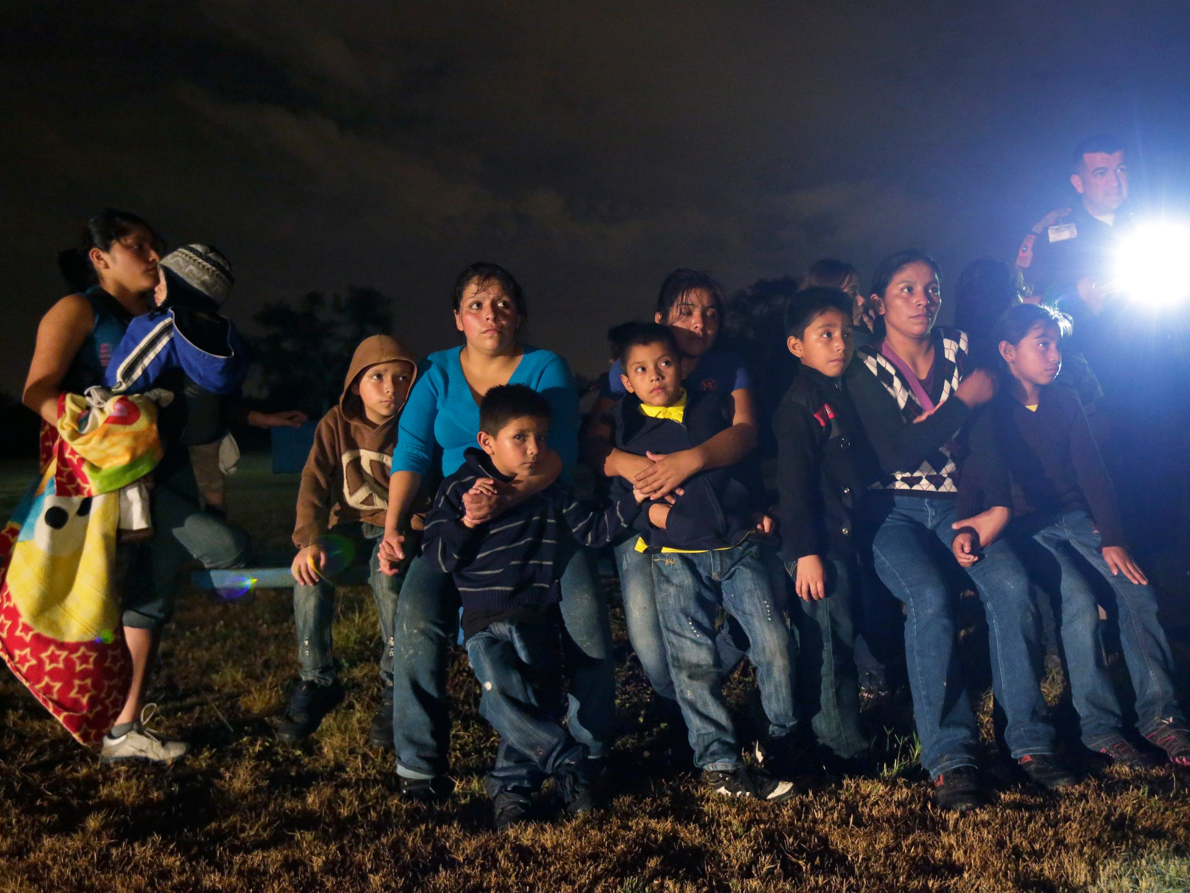 Immigrants from Honduras and El Salvador are stopped