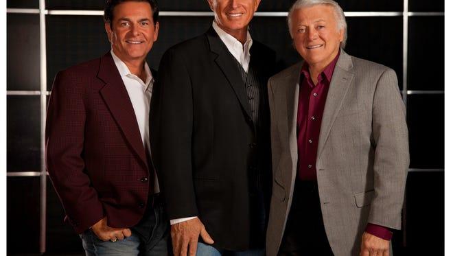 From left: Bobby Poyton, Donovan Tea and founder of the group Tony Butala make up The Lettermen.