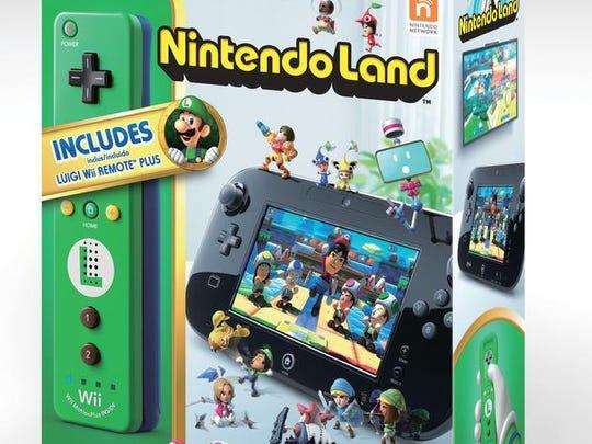 'Nintendo Land' with Luigi-themed Wii Remote Plus controller.