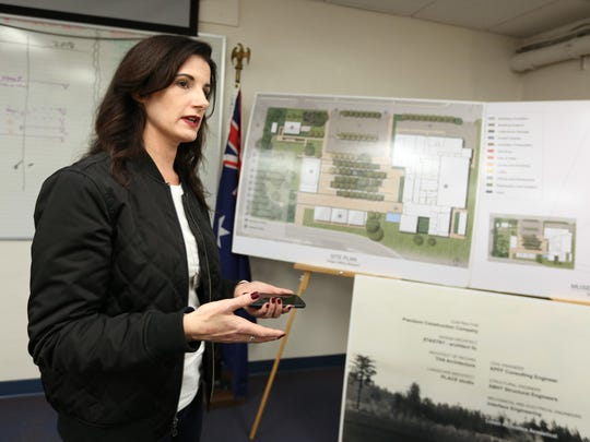 Amy Maxwell, a founder of the Oregon Military Museum Project, talks about renovation plans for the Oregon Military Museum on Feb. 11, 2016, in Clackamas.
