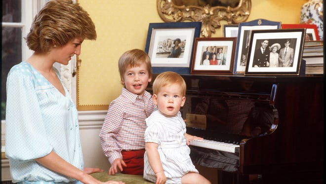 Diana Princess of Wales, Prince William Duke of Cambridge and Prince Harry of Wales.