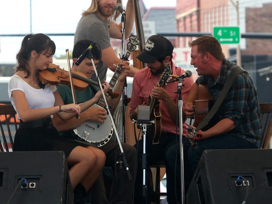 Bluegrass on Main Street brought crowds to the square