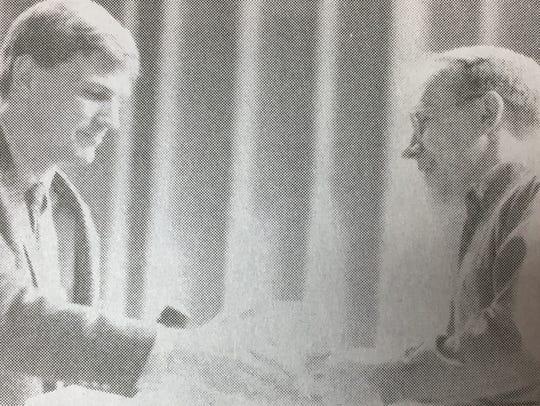 Farm Bureau member Bill Holbrook presented American