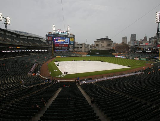 Rained out Comerica Park